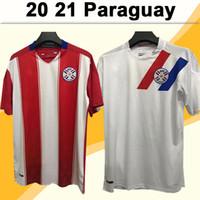 2021 باراجواي رجل لكرة القدم الفانيلة الجديدة فريق وطني المنزل الأحمر الأبيض بعيدا كرة القدم قميص قصير الأكمام الزي الرسمي الكبار camisetas دي futbol