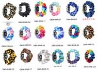 넥타이 염료 패턴 벨벳 패브릭 Scrunchie 탄성 시계 애플 시계 밴드 시리즈 6 5 4 3 38mm 40mm 42mm 44mm