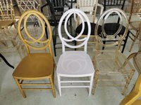 wholesale resin stackable clear phoenix chair gold color for events and hospitality, wedding waterproof plastic phoenix chair in white color