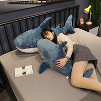 1 unids tiburón peluche juguetes popular dormir almohada viaje compañero de viaje regalo tiburón lindo relleno animal peces almohada juguetes para niños