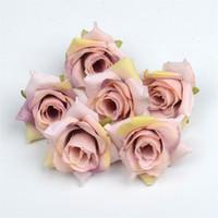 4 cm de seda rosa flor 50 pcs / lote flor artificial seda seda cabeça de casamento festa de casamento decoração de casa falsificado flor rosa eef3913