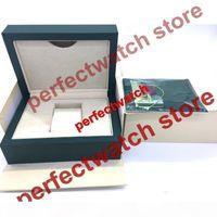2018 neue grüne marke uhr original box papiere karten geldbörse geschenkboxen handtasche 185mm * 134mm * 84mm für 116610 116660 116710 Uhren