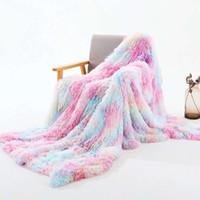 Bonenjoy Decken für Betten Coral Fleece Flanell Plaids auf dem Sofa Bunte Einzel- / Queen-Bettdecke und Kissenbezug Flauschige Decken 201113