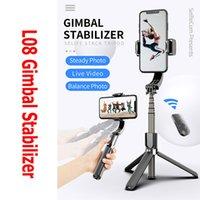 2020 l08 Grip Gimbal Stabilisator Stativ Anti-Shake Selfie Stick Halter Einstellbare Ständer Wireless Bluetooth-Fernbedienung für Live-Show