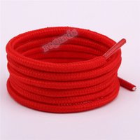 2021 High Quality Waxed Round Shoe Laces Shoestring for Martin Boots Leather Sport Shoes black white mesh Cotton Shoelaces Lacet Black
