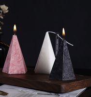 북유럽 기하학 콘 향수 촛불 홈 침실 장기 지속되는 공기 정화 향수 양 초 새 해 발렌타인 선물