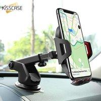 Titulaire de téléphone portable Supports de voiture Kisscase Titulaire du support de voiture d'aspiration Air Vent Support XR XS Max Huawei P20