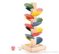 شجرة خشبية الرخام الكرة المدى لعبة الطفل مونتيسوري كتل أطفال الأطفال الاستخبارات التعليمية نموذج بناء لعبة
