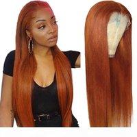 Оранжевый имбирь цветные волосы волосы парики бразильские прямые кружева передние волосы волосы для женщин 150% красный 99J кружевной фронтальный парик реми