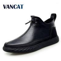 Vancat New Plüsch Halten Super warme Männer Stiefel Winterstiefel Gummi Plüsch Schnee England Knöchel Für Männer Winterschuhe1