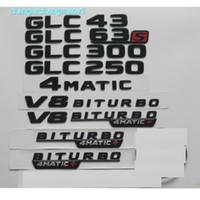 لمعان أسود لمرسيدس بنز X253 C253 W253 GLC43 GLC63 S AMG GLC250 GLC250 GLC300 V8 Biturbo 4matic جذع شعارات النجم الخلفي شارات