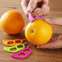 Peeling Turuncu Faydalı Plastik Turuncu Narenciye Soyucu Dilimleme Limon Kesici Meyve Cilt Remover Barker