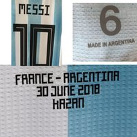 2018 Match Worn Player Issue Messi With Match Details Cusomize Any Name Any Number Soccer Nameset Patch Printing