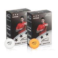 Bolas de tênis de mesa 6 pcs Treinamento de três estrelas Fitness Sports Indoor White Amarelo Paddle Ball 1104