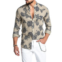 Wholesale Customized Clothing button up shirts men shirt sum...