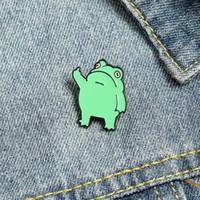 Frog Esmalte Broches Pin para Mujer Moda Vestido Capa Camisa Demin Metal Broche Pines Badges Promoción Regalo 2021 Nuevo diseño