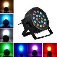 18W 18-LED RGB السيارات والمراقبة الصوتية الحزب ضوء المرحلة ضوء أسود أعلى جودة المصابيح الجديدة والعالية الجودة أضواء