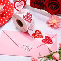 Sevgililer Günü Mühür Sticker Düğün Parti Malzemeleri 8 Desenler Hediye Süslemeleri 1 Inç Kırmızı Aşk Kalp Şeklinde Yapışkanlı Etiket 4YH J2