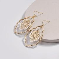 Dangle Avize Tasarımcısı Inspired Altın Telkari Fas Kadınlar Için Damla Küpe Marka Gözyaşı Hollow Bildirimi Moda Jewelry1