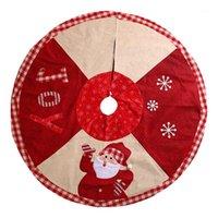 Faldas de árbol de navidad Santa Claus Pattern Creative Paño Falda del árbol delantal delantal para la decoración de la fiesta1