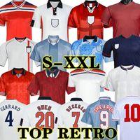 Beckham 2002 Owen Retro Keegan Lampard England Soccer Jerseys Home Above 1982 1994 Rooney Gascoigne Gerrard 1998 Classic Football Shirt McDermott