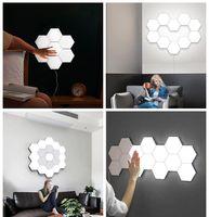 Quantum Lampe Hexagonal Lampen Modular Berührungsbildschirm Beleuchtung LED-Nachtlicht Magnetic Hexagons kreative Dekoration Wand Lampara