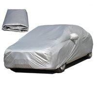 Cubiertas de automóviles completas impermeables universales para exteriores Tapa de protección UV al aire libre cubierta polvo lluvia nieve hielo protector para sedan s / l / xl / xxl1