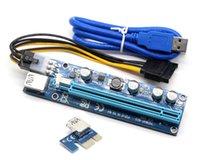 Riser Ver 008C PCIE RISER 6PIN 16X para la minería BTC con la tarjeta Express LED con cable de alimentación SATA y cable de calidad USB 60 cm