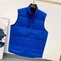 Aşağı Ceket Yelek Sıcak Erkek Stylist Kış Ceket Tutmak Moda Yelek Erkekler Ve Kadınlar Kalınlaşmak Açık Ceket Temel Soğuk Koruma Boyutu S-2XL