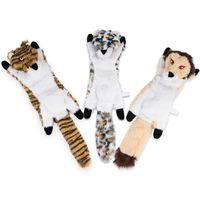 Hundekatze quietschende Spielwaren Kein Füllung Tiger Leopard Lion Plüschkau Haustiere Spielzeug für kleine mittelgroße Schulungen JK2012XB