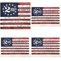 2-я поправка старинный американский флаг открытый баннер флаг 90см * 150см полиэстер пользовательских США колледжа баскетбол флаги CYZ2769 7 N2