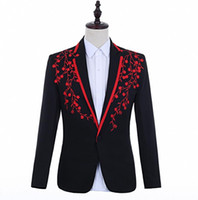 2019 Yeni Stil Blazer Fit Ince Sahne Elbise Gece Kulübü Bar Şarkıları Kostümleri Erkekler Kişilik Damat Düğün Takım Elbise!
