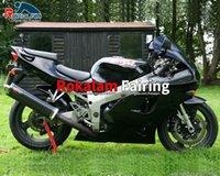 Svart för Kawasaki Fairings Parts Ninja ZX7R ZX 7R 1996 1998 1999 2000 2001 2002 Eftermarknad Bodywork Fairing Kit Motorcykel Fairing Set