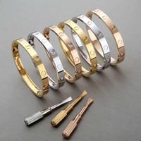 Bracelet de couple pour femmes de marque 316 Bracelet de bracelet à vis en acier en acier titane