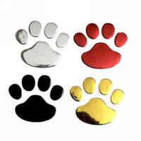 Araba Dekoratif Sticker Sevimli Tasarım Pençe Şekli Çıkartmalar Hayvan Ayak Baskılar 3D Çıkartması Gümüş Altın Siyah Kırmızı