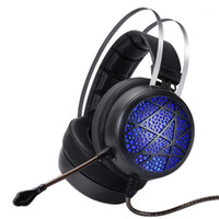 Internet Cafe Gaming Desktop Computer Gaming Headset with Mi...