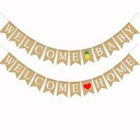 Party Dekoration Ziehen Flagge Willkommen Home Baby Stil Farbige Banner Ananas Liebe Herz Muster Swallowtail Flags 10 5DF L1