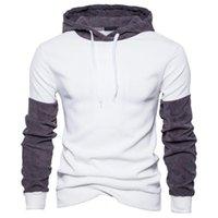 2021 otoño sudaderas con capucha nueva patchwork casual hombres jerseys moda Streetwear Sudaderas Personalidad Amantes con capucha Sportswear