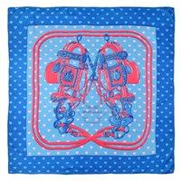 Pobing 90x90cm Silk Foulard Femme Couple Léopard Print Manual Square Echarpes Bee Echapès Foulards Femme Wrap Bandana Petit Hijab 201218