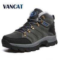 Vancat Große Größe Neue Männer Stiefel für Männer Winter Schnee Stiefel Warme Furplush Schnüre High Top Mode Männer Schuhe Sneakers Boots 201215