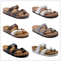 마야리 최고 품질의 새로운 컬러 슬라이더 남성 여자 여름 코르크 샌들 비치 슬라이드 슬리퍼 숙녀 플립 플롭 로퍼 하늘 블루 chaussures