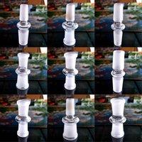Bong Sigara Aksesuarları Adaptörü Cam Nargile Bağlayıcı Su Borusu Erkek Kadın 14mm 18mm Dönüştürücü Buzlu Dayanıklı 3FD N2