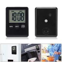 Minuterie de cuisine numérique LED Copie de cuisson en plastique UP Comport à rebours Aimant Alarme Aimant Outils de cuisson électroniques 10 couleurs PPF4842