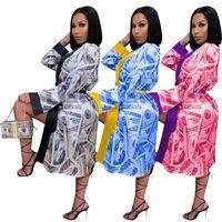 Kadın Casual Midi Elbise Yaz Güz Giysi Baskı Gevşek Ev Pijama Hırka Bodycon Kalem Elbise Seksi Kulübü Şık Sıcak Satış 0640