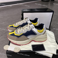 Gucci shoes 2020 Los zapatos del diseñador impresa  retro del de la plataforma aérea de baloncesto sandalia Kanye triple de la vendimia de las alpargatas de