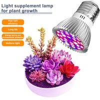 İndirim Phyto Lambaları Tam Spektrum E27 LED Bitki Işık Büyümek Lambası E14 Bitkiler için LED 18 W 28 W Fitolampi Sera Çadır Ampüller UV IR