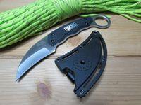 SOG Gambit GB1001 Нержавеющая сталь Нержавеющая Сталь Нейлон Оборота Тактическая Оборона выживания Кемпинг EDC Борьба с фиксированным инструментом Нож Лапа Карабиты