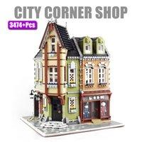3474PCS Creator City Street View Cafe Corner Mall Bloques Bloques de construcción Arquitectura Ladrillos Set Niños Niños Modelos Toys Regalos Q1126