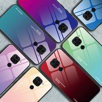 Voor Redmi Xiaomi Telefoon Gevallen Creatieve Gradiënt Gehard Glasdeksel 10 / 10ULTRA POCO X3 NFC 10T PRO 5G Anti-Fall Beschermhoes 7 Kleuren