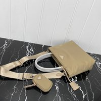 High quality canvas hobo women triple Crossbody shoulder bags women's Chest pack lady Tote chains handbags presbyopic purse messenger Triangle label shopping bag